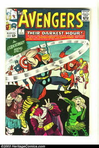 The Avengers #7 (Marvel, 1964) Condition: FN/VF. Jack Kirby and Chic Stone art. Overstreet 2003 FN 6.0 value = $63; VF 8...