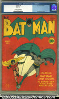 Golden Age (1938-1955):Superhero, Batman #6 (DC, 1941) CGC VG 4.0 Off-white to white pages. Jerry Robinson cover. Overstreet 2003 VG 4.0 value = $846. ...
