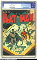 Golden Age (1938-1955):Superhero, Batman #10 (DC, 1942) CGC FN 6.0 Off-white to white pages. Catwoman appearance with new costume. Fred Ray cover, Jack Burnle...