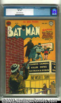 Golden Age (1938-1955):Superhero, Batman #64 (DC, 1951) CGC VF 8.0 Cream to off-white pages. Attractive, unrestored copy. Overstreet 2003 VF 8.0 value = $381....