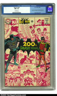 Batman #200 (DC, 1968) CGC NM+ 9.6 Off-white pages. Neal Adams cover - his first on this title. Scarecrow, Penguin, and...