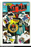 Silver Age (1956-1969):Superhero, Batman #213 (DC, 1969) Condition: VG. Batman's 30th Anniversary issue. Origins of Alfred, Joker, and Clay Face. New Robin or...