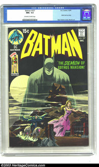 Batman #227 (DC, 1970) CGC NM+ 9.6 Off-white to white pages. Neal Adams cover swipe of Detective #31. Robin back-up stor...