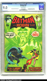 Batman #232 (DC, 1971) CGC VF/NM 9.0 Off-white pages. First appearance of Ra's Al Ghul. Origin of Batman and Robin retol...