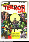 Golden Age (1938-1955):Horror, Beware Terror Tales #1 (Fawcett, 1952) Condition: VG. Bernard Baily cover and art. Bob Powell art. EC art swipes from Haun...