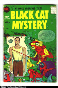 Black Cat Mystery #57-60 Group (Harvey, 1956). This lot consists of issue #57 (VG-), 58 (FN-), 59 (VG+), and 60 (FN). Ja...