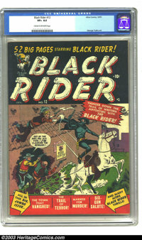 Black Rider #12 (Atlas, 1951) CGC VF+ 8.5 Cream to off-white pages. This is the highest graded copy on CGC's census. Stu...