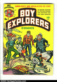 Boy Explorers #1 (Harvey, 1946) Condition: VG-. Looks NM, but has water damage around the spine. First appearance of The...