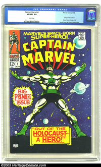 Captain Marvel #1 (Marvel, 1968) CGC VF/NM 9.0 White pages. Story continued from Marvel Super-Heroes #13. Gene Colan and...