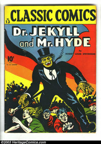 Classic Comics #13 Dr. Jekyll and Mr. Hyde, HRN 12 (Gilberton, 1943) Condition: FN. First edition. One of, if not the, f...