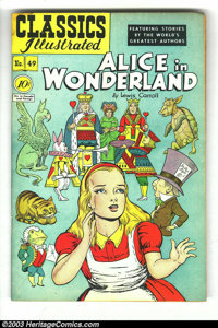 Classics Illustrated #49 Alice in Wonderland, HRN 47 (Gilberton, 1948) Condition: VG. First printing. Alex Blum cover an...