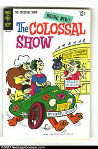 The Colossal Show #1 (Gold Key, 1969) Condition: VF+. An obscure TV comic set in ancient Rome. Oddball fun! Overstreet 2...