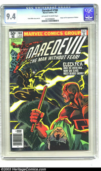 Daredevil #168 (Marvel, 1981) CGC NM 9.4 Off-white to white pages. Origin and first appearance of Elektra. Frank Miller...