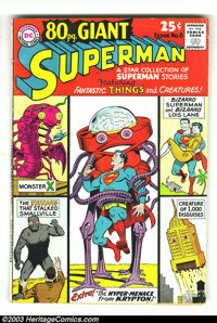 80 Page Giant #6 and 15 Superman Group (DC, 1965) Condition: VG. Two Superman issues make up this lot. Curt Swan, Wayne...