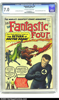 Fantastic Four #10 (Marvel, 1963) CGC FN/VF 7.0 Off-white to white pages. Stan Lee and Jack Kirby appear in story; Jack...