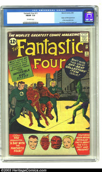 Fantastic Four #11 (Marvel, 1963) CGC FN/VF 7.0 Off-white pages. Origin and first appearance of the Impossible Man. Jack...