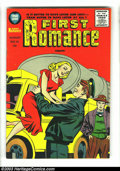 Silver Age (1956-1969):Romance, First Romance #41-43 Group (Harvey, 1956). A nice three-issue lot of romance comics with Jack Kirby covers. The grades are: ... (Total: 3 Comic Books Item)
