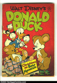 "Four Color #178 Donald Duck (Dell, 1947) Condition: GD. ""Christmas on Bear Mountain"" by Carl Barks. First appe..."