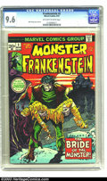 Bronze Age (1970-1979):Horror, Frankenstein #2 (Marvel, 1973) CGC NM+ 9.6 Off-white to whitepages. Mike Ploog cover and art. There is currently only one c...