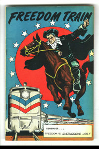 Freedom Train #nn (Street & Smith, 1948) Condition: VF. Giveaway. Bob Powell cover. Patriotic theme. Overstreet 2003...