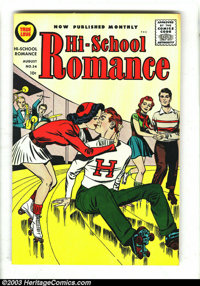 Hi-School Romance Group (Harvey, 1956-1958). This lot consists of issues #54-61, and 73. All have Jack Kirby covers. Iss...