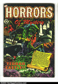 """Golden Age (1938-1955):Horror, Horrors #13 (Star, 1953) Condition: VG/FN. L. B. Cole cover. """"TheHorrors of Mystery."""" Crime stories. Overstreet 2003 VG 4.0..."""