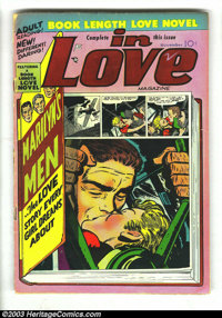In Love #2 and 3 Group (Mainline, 1954-1955). This lot consists of issues #2 (GD-, long spine split) and 3 (VG+). Joe Si...
