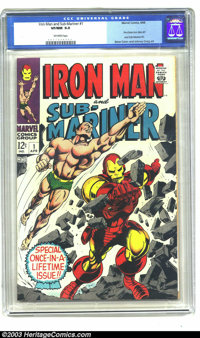 Iron Man and Sub-Mariner #1 (Marvel, 1968) CGC VF/NM 9.0 Off-white pages. Gene Colan and Johnny Craig art. One-shot that...