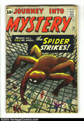 Silver Age (1956-1969):Mystery, Journey into Mystery #73 (Marvel, 1961) Condition: FN-. Spider-Manreverse prototype issue. Jack Kirby cover and art. Overst...