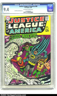 Justice League of America #68 (DC, 1968) CGC NM 9.4 Off-white to white pages. Dick Dillin and Sid Greene art. Overstreet...