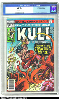 Kull the Conqueror #21 - 35 Cent Price Variant (Marvel, 1977) CGC NM+ 9.6 Off-white pages. 35 cent price variant. Ernie...