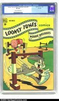 Golden Age (1938-1955):Cartoon Character, Looney Tunes and Merrie Melodies Comics #97 File Copy (Dell, 1949) CGC VF 8.0 Cream to off-white pages. Highest graded copy ...