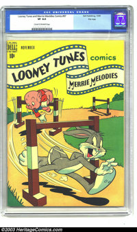 Looney Tunes and Merrie Melodies Comics #97 File Copy (Dell, 1949) CGC VF 8.0 Cream to off-white pages. Highest graded c...