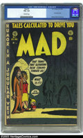 Golden Age (1938-1955):Humor, Mad #1 (EC, 1952) CGC VG+ 4.5 Off-white pages. EC's trend-setting first issue of the first satire comic book. Harvey Kurtzma...
