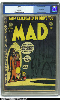 Mad #1 (EC, 1952) CGC VG+ 4.5 Off-white pages. EC's trend-setting first issue of the first satire comic book. Harvey Kur...
