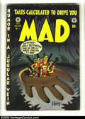 Golden Age (1938-1955):Humor, Mad #6 (EC, 1953) Condition: GD/VG. Popeye cameo. Harvey Kurtzman cover. John Severin, Wally Wood, Jack Davis, and Bill Elde...