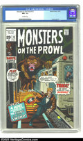 Bronze Age (1970-1979):Horror, Monsters on the Prowl #13 (Marvel, 1971) CGC NM- 9.2 Off-white pages. Syd Shores art. Only one other copy has earned a highe...