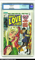 Bronze Age (1970-1979):Romance, Our Love Story #3 Stan Lee File Copy (Marvel, 1970) CGC VF/NM 9.0Cream to off-white pages. Extra nice copy from Stan's file...