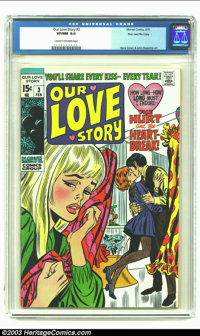 Our Love Story #3 Stan Lee File Copy (Marvel, 1970) CGC VF/NM 9.0 Cream to off-white pages. Extra nice copy from Stan's...