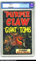 Golden Age (1938-1955):Horror, Purple Claw #3 (Minoan Publishing, 1953) CGC FN- 5.5 Cream tooff-white pages. An obscure, oddball title. Combination of sup...