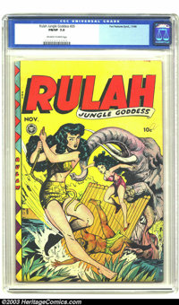 Rulah Jungle Goddess #20 (Fox Features Syndicate, 1948) CGC FN/VF 7.0 Off-white to white pages. Sexy jungle girl fun. Ov...