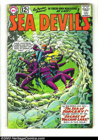 Sea Devils Group (DC, 1962-1965) Condition: Average VG. This lot consists of #4, 11, 13, 18, and 21. Covers and art by s...