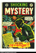 "Golden Age (1938-1955):Horror, Shocking Mystery Cases #50 (Star Publications, 1952) Condition:FN-. L. B. Cole cover and Jay Disbrow ""Frankenstein"" story. ..."
