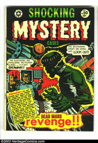 """Shocking Mystery Cases #50 (Star Publications, 1952) Condition: FN-. L. B. Cole cover and Jay Disbrow """"Frankenstein..."""