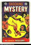 Golden Age (1938-1955):Horror, Shocking Mystery Cases #52 (Star Publications, 1953) Condition: VG.L. B. Cole cover. Carnival killer cover and story. Overs...