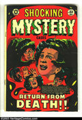 Golden Age (1938-1955):Horror, Shocking Mystery Cases #55 (Star Publications, 1953) Condition:VG+. L. B. Cole cover. Crime stories. Overstreet 2003 VG 4.0...