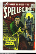 Golden Age (1938-1955):Horror, Spellbound #33 (Atlas, 1957) Condition: VF-. Angelo Torres art.Overstreet 2003 VF 8.0 value = $101....