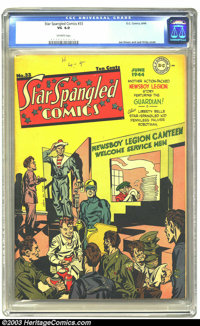 Star Spangled Comics #33 (DC, 1944) CGC VG 4.0 Off-white pages. Joe Simon and Jack Kirby cover. The Guardian and Newsboy...