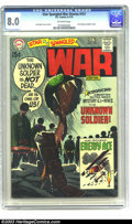 Bronze Age (1970-1979):War, Star Spangled War Stories #151 (DC, 1970) CGC VF 8.0 Off-white pages. First solo appearance of the Unknown Soldier. Joe Kube...