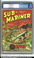 Golden Age (1938-1955):Superhero, Sub-Mariner Comics #2 (Timely, 1941) CGC G/VG 3.0 Slightly brittle pages. Alex Schomburg cover, Bill Everett art. Angel stor...